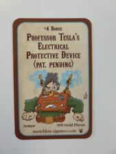Professor Tesla's Electrical Protective Device STEAMPUNK MUNCHKIN PROMO Unplayed