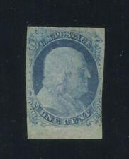 1852 United States Postage Stamp #9 Mint Hinged F/VF Original Gum Certified