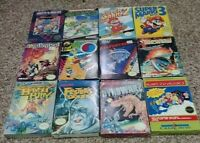 12 NES Games Complete in box w/ Manual Sleeves & Styrofoam pieces 100% Authentic