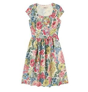 CATH KIDSTON Cotton Slub Short Sleeve Floral Dress UK 16 ~ BNWT ~ Kidson Kitson