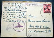 POLAND GERMAN OCCUPATION POSTAL  STATIONERY 1940 To NEW YORK
