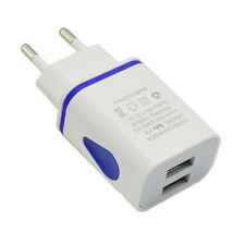 LED Light 2 USB Wall Travel Charging Charger Adapter 2A For Phone EU US Plug HOT
