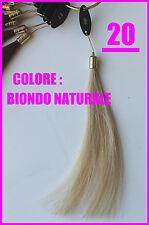 Extension ciocche capelli veri con cheratina 55 cm 100%25 Remy Hair
