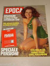 EPOCA=1983/1710=GIULIANA DE SIO=MODA FRANCO NERO MAURICE BEJART PAOLO ROSSI=