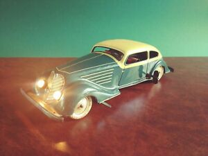 Scarce 1930's JDN Distler Tin Wind-up Deluxe Coupe Tinplate Oldtimer