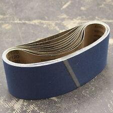 10 Zirconia Abrasivo Correas para lijar 100mm X: 610 mm 120 g de todos los metales Inc Inox