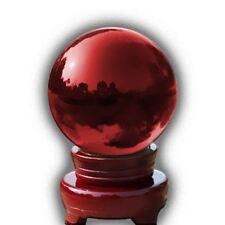 Cristal Bola de mágico curativo Fotografía Colorido Esfera 100mm ROJO