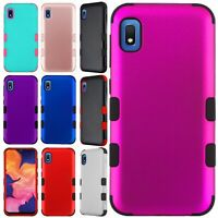 For Samsung Galaxy A10E IMPACT TUFF HYBRID Protector Case Skin Phone Cover