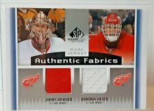 2013-14 UD SP Game Used Dual Jersey Detroit Red Wings Jimmy Howard Dominik Hasek