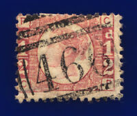 1874 SG49 ½d Rose Plate 11 CP Liverpool 466 Hinged Good Used Cat £30 cgau