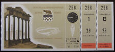 1960 ROME OLYMPIC GAMES FIRST CLASS TICKET CYCLING CICLISMO ORIGINALE E COMPLETO