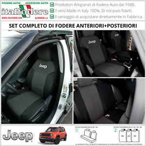 FODERE COPRISEDILI Jeep Renegade SU MISURA! Fodera Foderine COMPLETE Nero 38