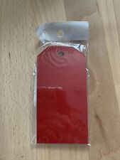 "Paper Luggage Gift Tag Crafting Supplies Red 4""x2"" 100ct"