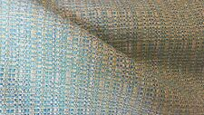 Vivid Turquoise Aqua Yellow Green Woven Cotton Soft Chenille Upholstery Fabric