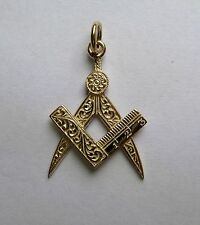 9ct Gold Masonic Pendant 1.4g