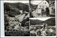 """Gruss aus Ferienheim """"FORELLE"""" Unterweissbach Thüringen OT QUELITZ Postkarte DDR"""