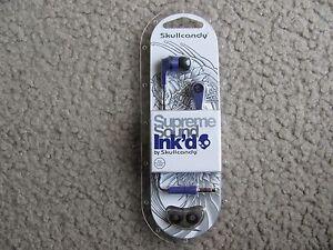 Brand New Skullcandy S2IKDZ-043 Supreme Sound Ink'd 2 Earbud Headphones (Purple)