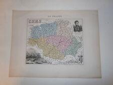Carte 19°  couleur Migeon Le Gers