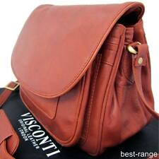 Visconti Saddle Bag Ladies Quality Shoulder Bag Brown Soft Leather Large New