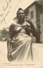 CARTE POSTALE AFRIQUE SENEGAL NU FEMME BAMBARA