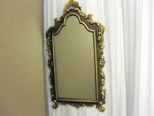 Vintage Wall Decorative Mirror Gold Gilt and Brown Frame Art Nouveau Style MINT