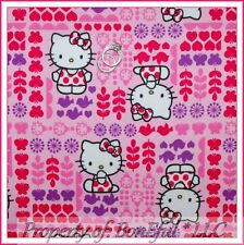 BonEful FABRIC FQ Cotton Quilt Pink Red Purple White Hello Kitty Heart Lady*bug