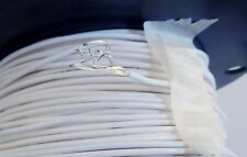 25'Teflon 16 AWG PTFE Wire Silver Plated Copper  M16878/4-BJE-9 White