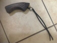 Remington 870 Hand Made Wood Pistol Grip With Leather Wrist Lanyard