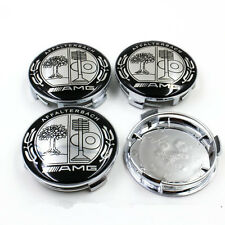 4x CHROME AMG AFFALTERBACH Fit MERCEDES BENZ 75mm ALLOY WHEEL BADGES CENTRE CAPS