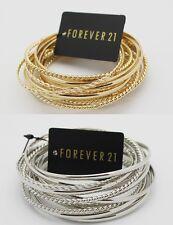 B455 Forever 21 Sexy Gold Silver Bracelets Bracelet pieces Dress Bangle Sets  US