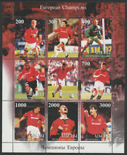 Abkhazia 6317 - 1999 MANCHESTER UNITED FOORBALL perf sheet of 9 unmounted mint