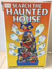 VERY RARE 1984 Sears Tomy SEARCH THE HAUNTED HOUSE Steel Ball Game w/ Box WORKS!