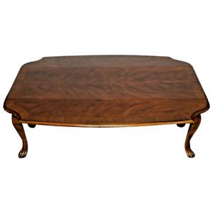 Drexel Coffee table Heritage Devoncourt Drop side solid Walnut model 131-154-3