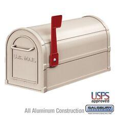 """Salsbury Heavy Duty Rural Mailbox - Beige-MAILBOX 4850BGE 7.5"""" x 9.5"""" x 20.5"""""""