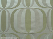Harlequin Curtain Fabric QUAD 6.9m Retro Design Olive/Latte/Ivory Weave 690cm