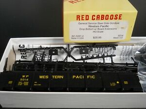 RED CABOOSE HO SCALE GENERAL SERVICE STEEL GONDOLA WP w/BOARD EXTENSIONS NIB