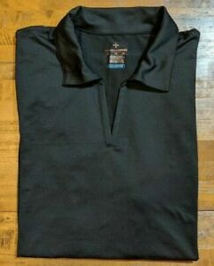 TOMMIE COPPER AGILITY COOL PERFORMANCE 2.0 POLO SHIRT - Women's XL BLACK NWT