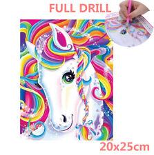 UK Full Drill Rainbow Unicorn 5D Diamond Painting Horse Cross Stitch Kit Gifts