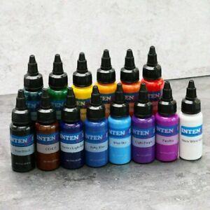 INTENZE Professional Tattoo Ink Set 14 Colors 100% Good Quality