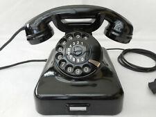 ALTES BAKELIT TELEFON   W48 + FR Reiner + 1953 + Wählscheibe + restauriert