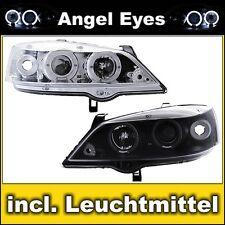 Angel Eyes DE Scheinwerfer Opel Astra G, Limo Caravan Coupe Cabrio Chrom Schwarz