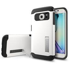 New OEM Spigen Slim Armor with Kickstand White Case For Samsung Galaxy S6 Edge
