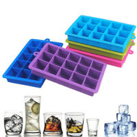15 Grids Silicone Ice Cube Tray Large Mould Mold Giant DIY Maker Square New