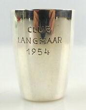 #e3768 Neusilber Schnapsbecher / Wodkabecher / Becher Club Langhaar von 1954