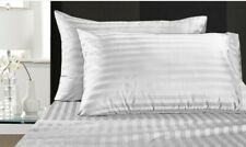 Damask Stripe 500-Thread-Count Egyptian Cotton Twin Sheet Set in White