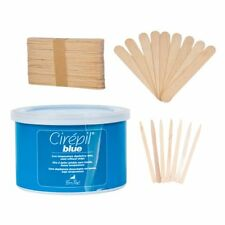 Cirepil - Blue Tin (Hard Wax) - 14oz Kit, includes 100 XS and 60 L Wooden Sticks