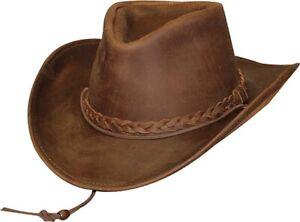 Henschel Brown/Oiled X-Large Weekend Walker 1154 100% Leather UPF 50 Hat
