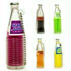 Japanese Liquid Food Drink Charm Keychain Glass Soda Bottle 1 Random Figure