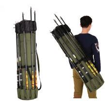 Fishing Rods Backpack Carry Bag Shoulder Pack Tackle Pole Tube Storage Travel