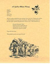 Book of Shadows Spell Pages ** Make Money Spells 8 DIY ** Wicca Witchcraft BOS